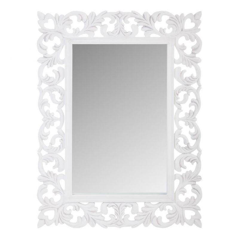 Espejo con marco de madera y metal en creaciones meng - Espejo marco blanco ...