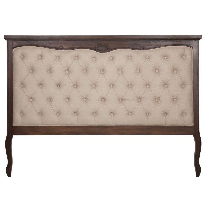 Cabezal de madera tapizado en creaciones meng mueble - Cabezal de madera ...