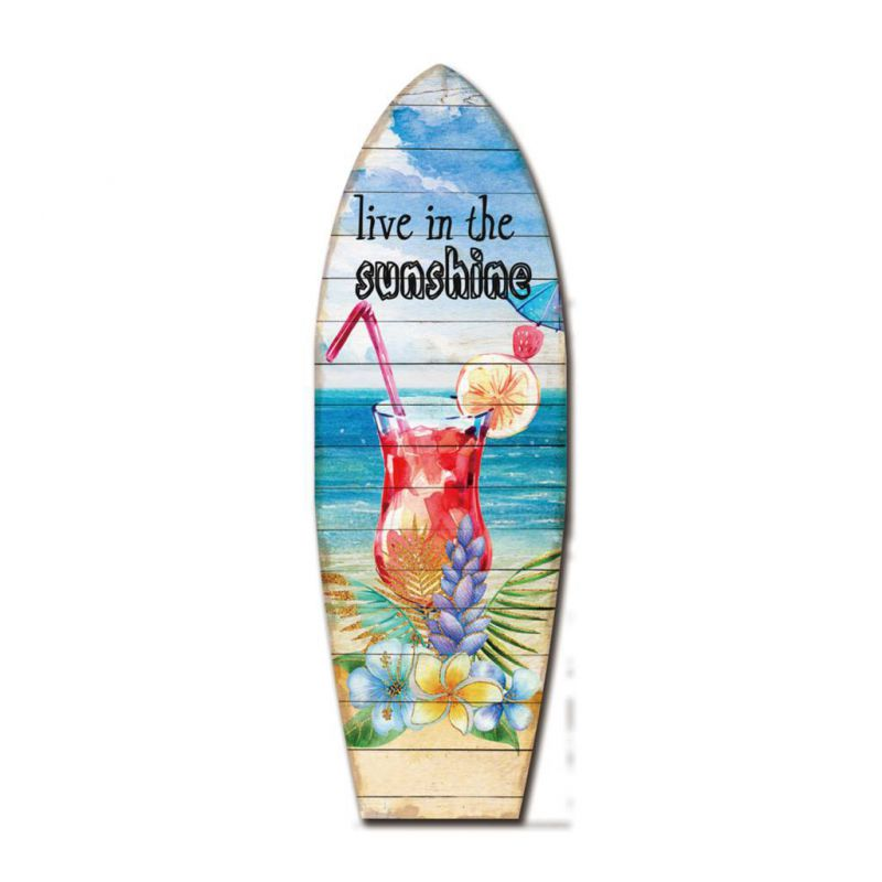 Tabla de surf de madera decorativa
